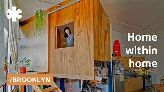 Indoor cabins: treehouse & tiny hut in Brooklyn loft for $2K