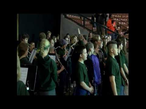 Newfound Memorial Middle School - U.S. Anthem - October 15, 2016