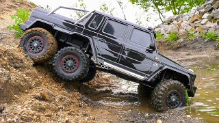 TRAXXAS TRX-6 MERCEDES-BENZ G 63 AMG IN ACTION!! *RC TRAIL ROCK CRAWLER 6WD 6x6