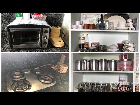 My small kitchen tour small Indian kitchen tour non modular kitchen organisation video