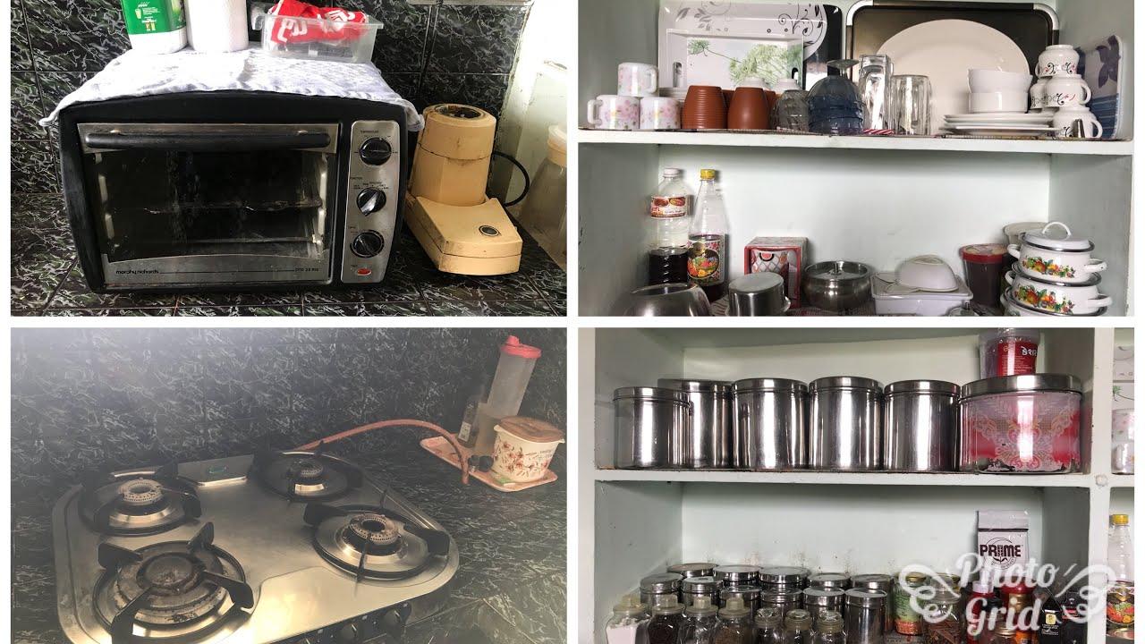 My small kitchen tour/small Indian kitchen tour/non modular kitchen  organisation video