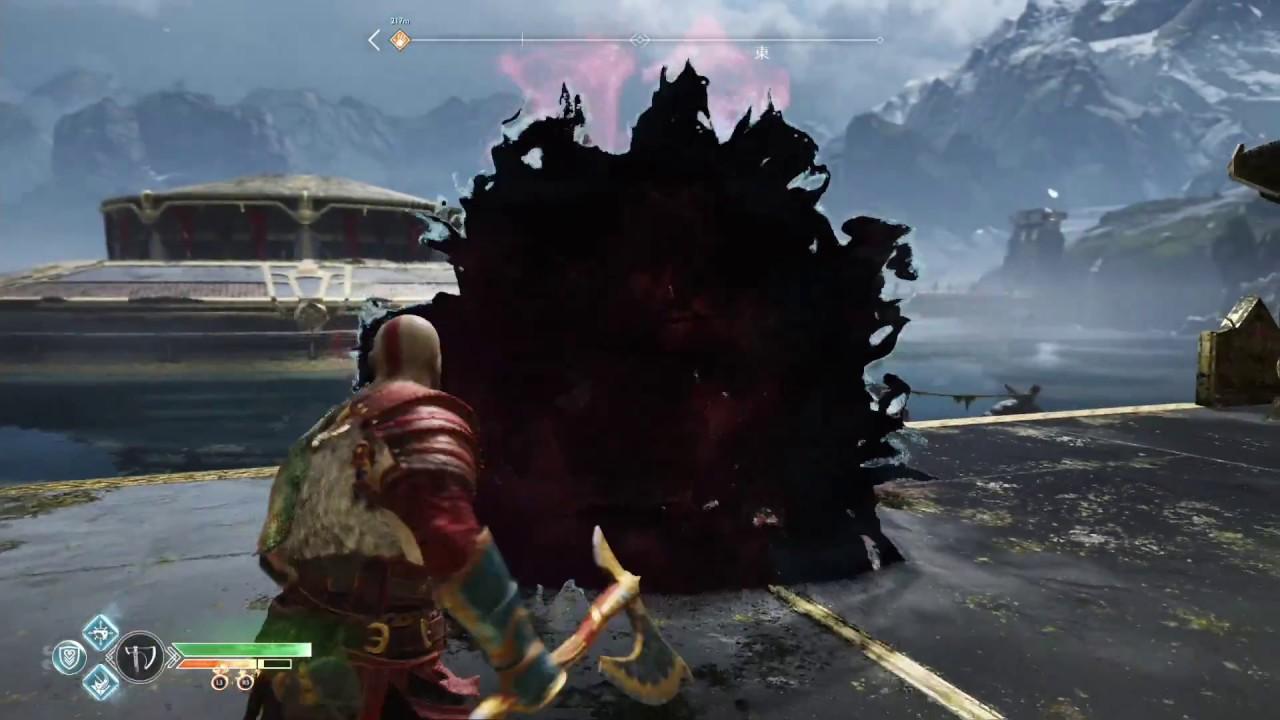 老豬呆呆的打遊戲 PS4戰神4 利用擊落技能輕鬆同時屌打紫血怪二隻 - YouTube