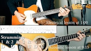 John Mayer - Love on the Weekend GUITAR LESSON | Acoustic + Electric