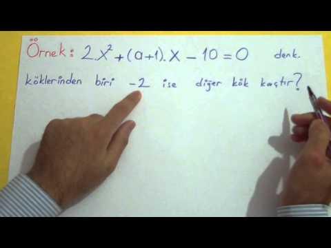 2. Dereceden Denklemler 2 Şenol Hoca Matematik