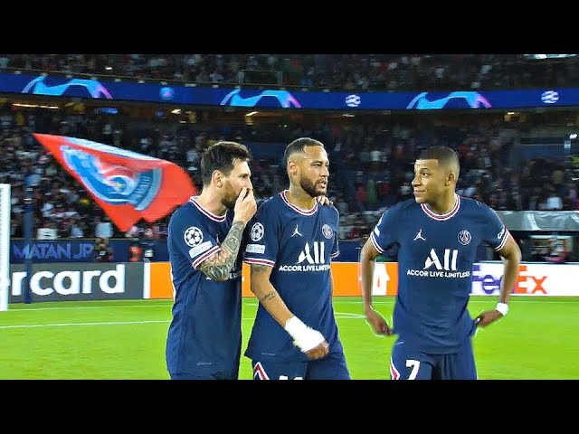 Messi, Neymar and Mbappe Destroying Manchester City | 2021