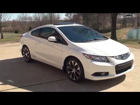 hd video 2013 honda civic si taffeta white 6 speed used for sale see www sunsetmotors com youtube. Black Bedroom Furniture Sets. Home Design Ideas