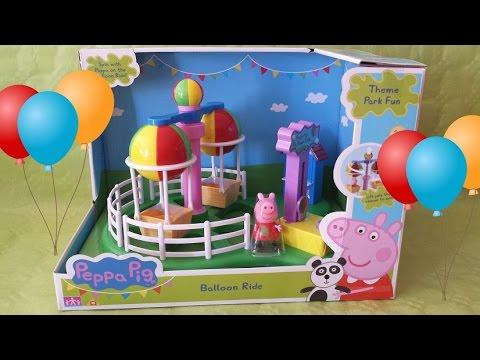 El parque de atracciones de PEPPA PIG  Juguetes Familia Pig  YouTube