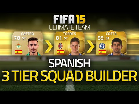 FIFA 15 - SPAIN! The 3 Tier Squad Builder! (FIFA 15 Ultimate Team)