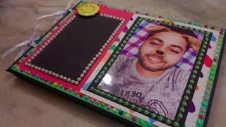 #Mini scrapbook #photo album #special friend #photo book with lots of photos massages n memories