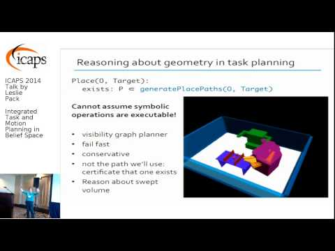 "ICAPS 2014: Leslie Kaelbling on ""Integrated Task and Motion Planning in Belief Space"""
