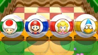 Mario Party 9 Garden Battle - Mario vs Peach vs Toad vs Kamek Master Difficulty Gameplay