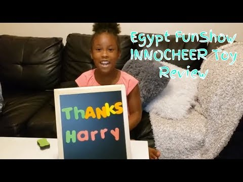 Egypt FunShow Reviews INNOCHEER Educational Magnetic Letters & Numbers Dry Erase Board!