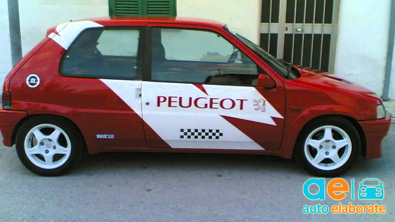 peugeot 106 106 rally 1 6 170cv 1994 tuning youtube. Black Bedroom Furniture Sets. Home Design Ideas