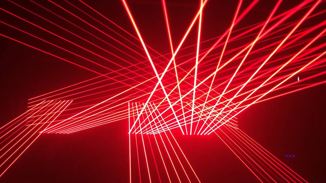 Laser show partner - Red laser beam bar - YouTube
