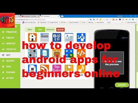 how to develop android apps for beginners online