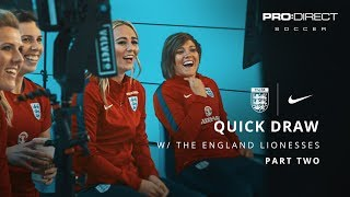 England Women's Team Euro 2017: Quick Draw | Part Two