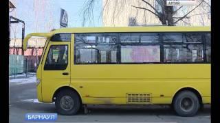 В барнаульском автобусе вместо окна установили гибкий телевизор