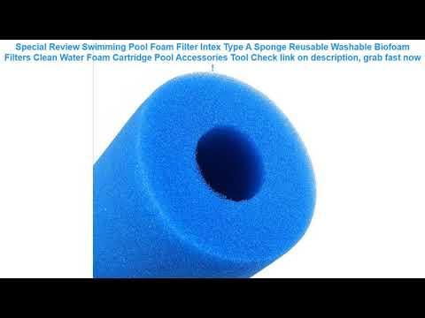 Swimming Pool Foam Filter Intex Type A Sponge Reusable Washable Biofoa