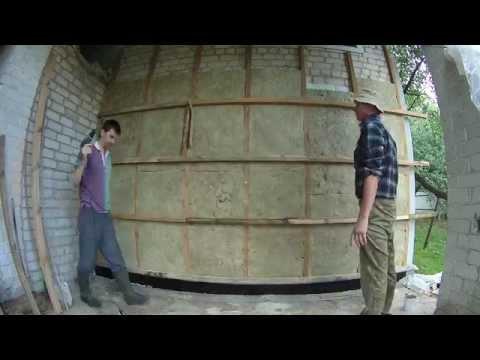 Утепление минеральной ватой силикатной стены. Отделка ольховой вагонкой.