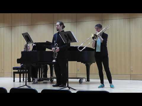 Ben Sawyer and Val Evans, TrumpetTrombone duet  A Song for Japan