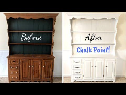 DIY Chalk Paint Hutch Makeover! 💖