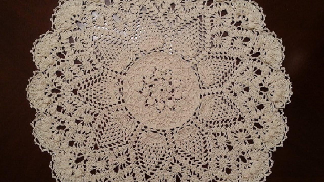Crochet Doily - Splendid Pineapples Doily Part 1 - YouTube