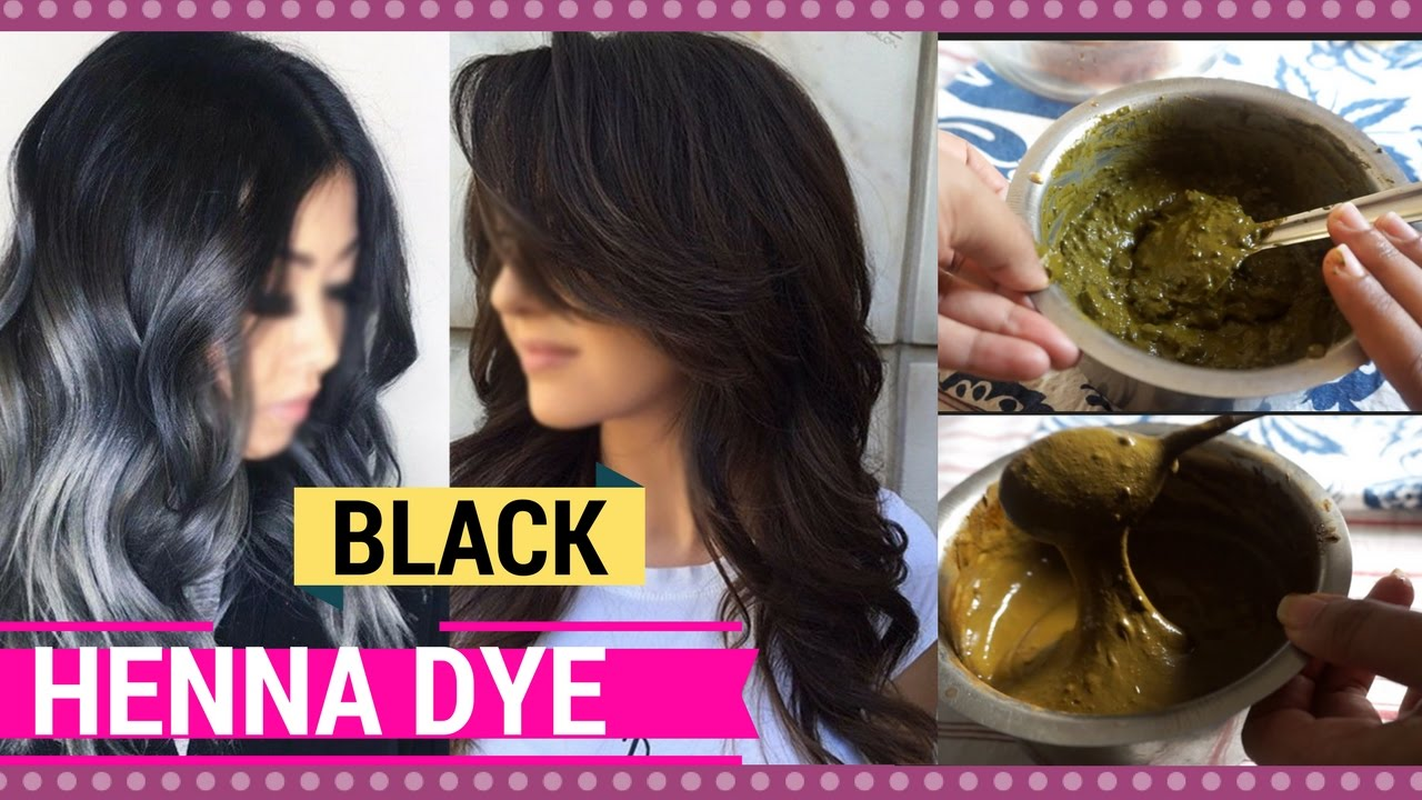 Get jet black hair at home naturally | how to mix henna hair dye ...