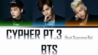 Скачать BTS 방탄소년단 Rap Line Cypher Pt 3 KILLER Feat Supreme Boi Color Coded Lyrics Han Rom Eng