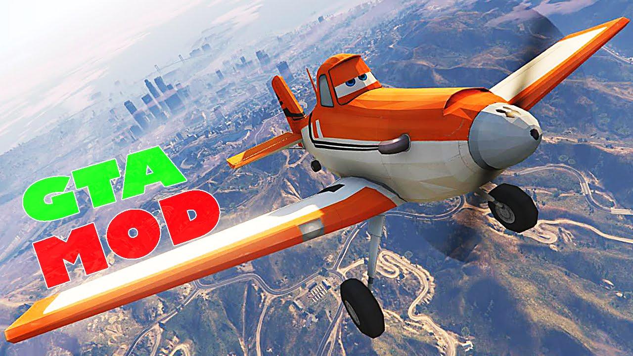 rusty dusty crophopper disney planes mod for gta v youtube