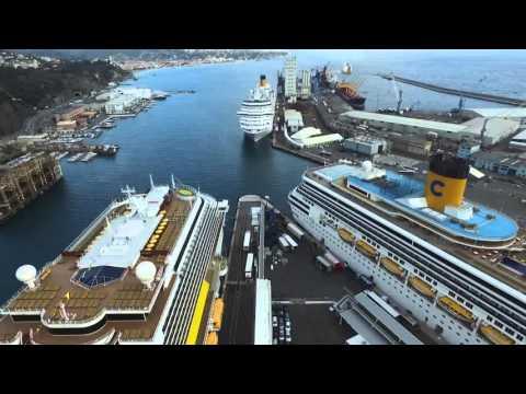 Круизный порт Савона, Италия, съёмка с воздуха
