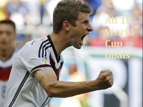 Thomas Müller | All 10 World Cup Goals | German Spirit | 2010-2014 [HD]