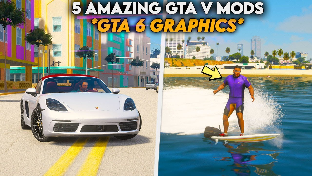 5 AMAZING GTA V Mods You Must Try Now ?  *GTA 6 Graphics* Hindi