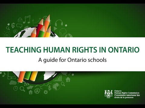 Teaching human rights in Ontario - A guide for Ontario schools