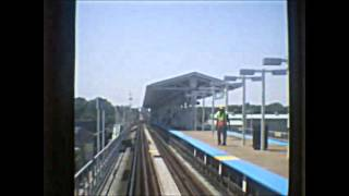 CTA Green Line train from Harlem/Lake to 63rd/Cottage Grove terminal (05-29-15)