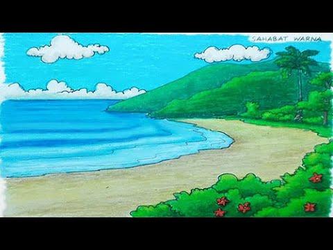 86+ mewarnai pemandangan pantai yang indah Terbaru
