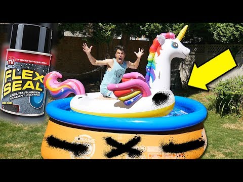 **MIND BLOWING** Testing FLEX SEAL! (As Seen On Tv Product Test & Unboxing)