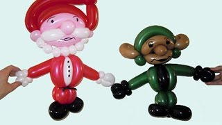 Дед Мороз тело из шариков. Санта Клаус тело из шаров. Элф тело из шариков