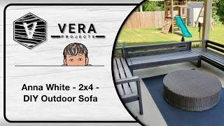 Anna White - 2x4 - DIY Outdoor Sofa