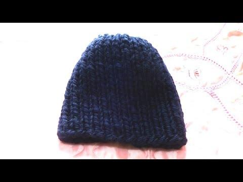 Модели шапок из толстой пряжи спицами