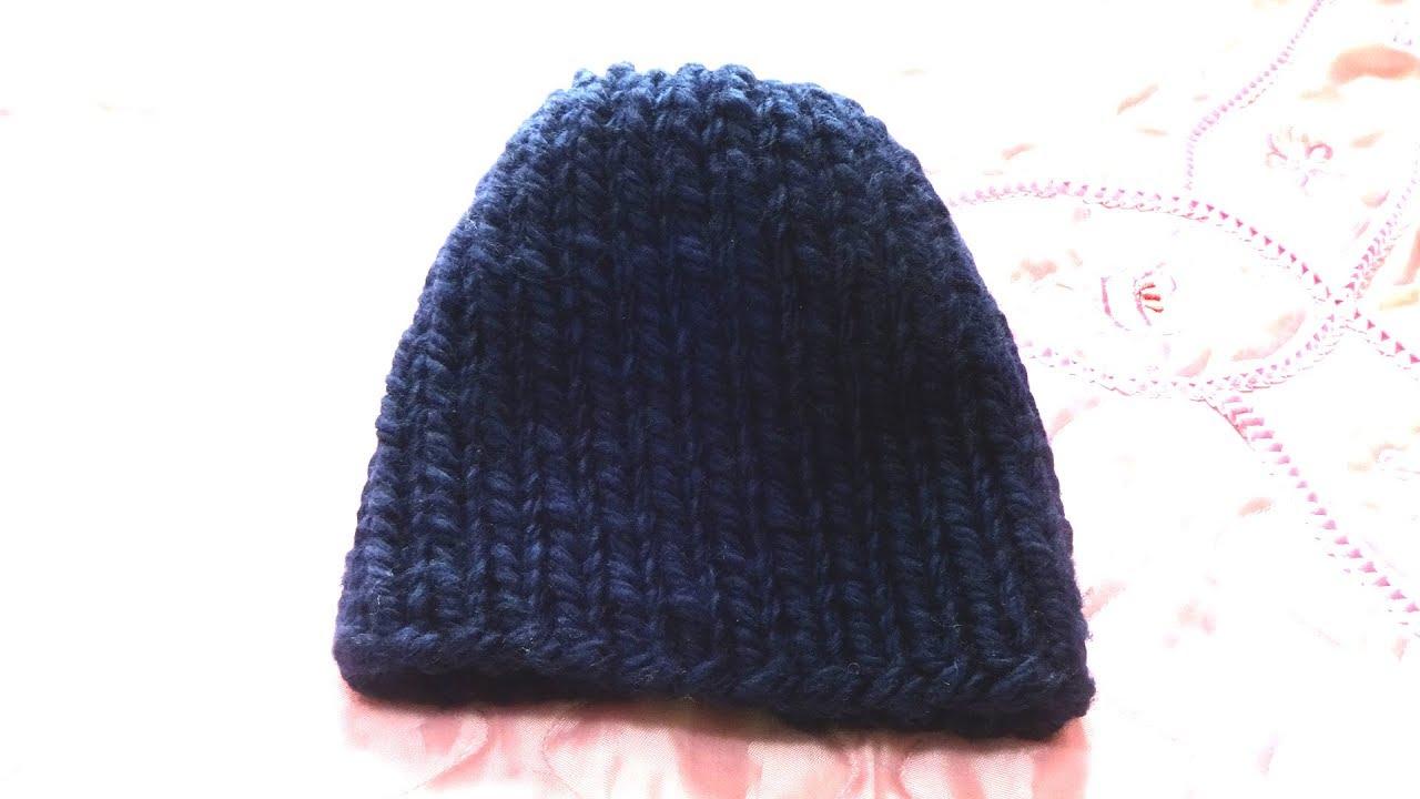 женская шапка из толстой пряжи вязание спицами номер 10 Youtube