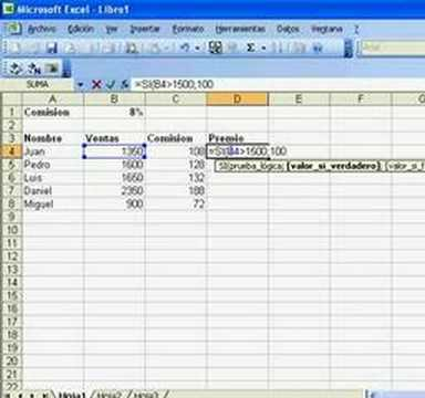 Aplicando Formula De Comision En Excel Youtube