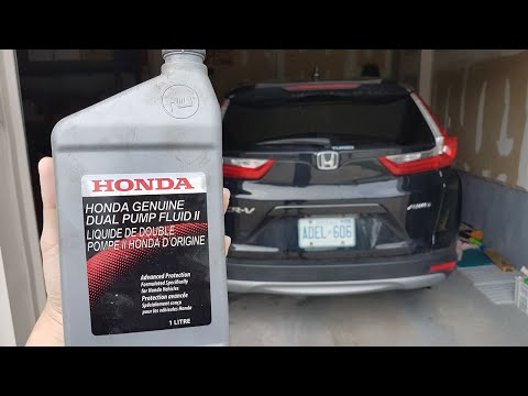 2017 CRV How to Change Rear Differential Fluid