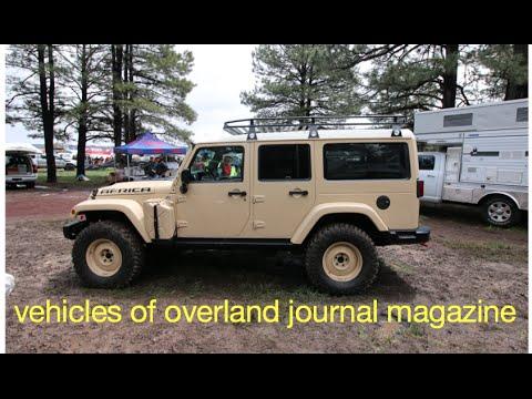 vehicles of Overland Journal Magazine at Overland Expo 2015