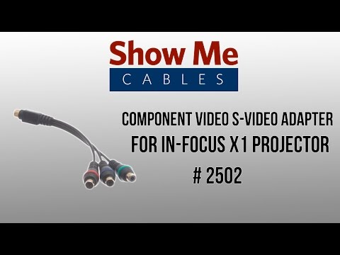 Component  S- Adapter for In-focus X1 Projector #2502