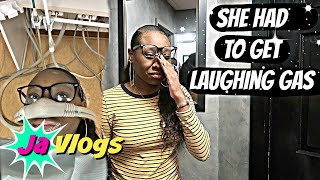 SHE HAD TO GET LAUGHING GAS | Family Vlogs | JaVlogs
