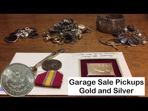 Garage Sale Finds June 2016, gold and silver jewelry and more