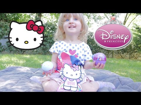 [JOUET] Hello Kitty & boule surprise Disney Princesse - Unboxing Hello Kitty & Disney Princess
