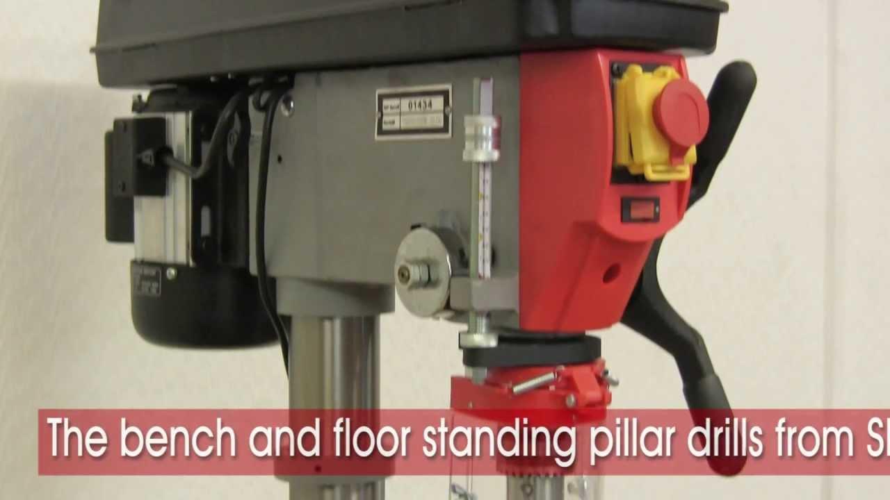 Bench Pillar Drill Part - 42: SIP Industrial Products | Bench U0026 Floor Pillar Drills - YouTube