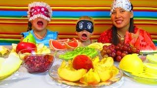 Челлендж с Едой: фруктово-ягодное объедение. Угадай еду - вызов принят Видео для детей + Конкурс