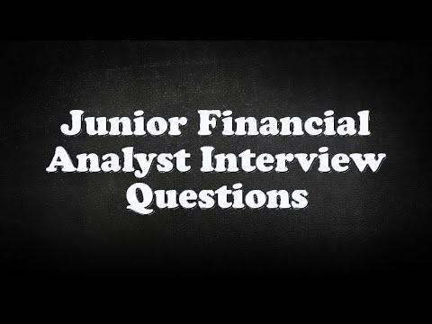 Junior Financial Analyst Interview Questions